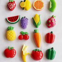 quadro negro venda por atacado-Hot New Mini Frutas Legumes Frigorífico Magnética Message Board Melhores Ímãs Ímã Blackboard Adesivos Melancia Laranja Tomate Modelo