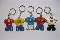 gummi schlüsselanhänger niedlich großhandel-Kundenspezifische Karikatur PVC keychain für Fußball-Trikotform der Fußball-Weltmeisterschaft 2018 niedliche keychains Geschenk-Ventilatorenandenken
