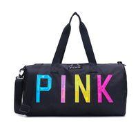 sacos de bagagem grande venda por atacado-Amor Rosa Saco De Armazenamento Grande Grande Rosa Das Mulheres Dos Homens Saco de Viagem Hangbag Sacos de Bagagem À Prova D 'Água Mochila