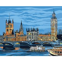 Wholesale DIY Oil Painting By Numbers Building Theme CM Inch On Canvas For Home Decoration Kits for Adults Unframed