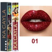 kits do dia das bruxas venda por atacado-KA CAYLA 8 Cores Halloween Edição Glitter Líquido Batom 3.5 ml Rouge um Levre À Prova D 'Água Lip Gloss Lipgloss Kit