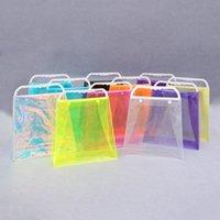 ingrosso borse in plastica in pvc-Sacchetto di plastica del PVC Sacchetto di plastica trasparente del PVC Sacchetto di imballaggio variopinto Sacchetti di immagazzinaggio delle borse di Shouder di modo RRA1602