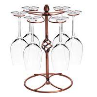 supports en métal pour verre achat en gros de-Porte-verre en verre Cuisine Bar Coupe Support suspendu Présentoir à gobelet en métal Verres à boire Verres à bière Rack Bar Accessoires
