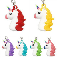 Wholesale lovely charms for sale - Group buy Free DHL Styles Women Charm Keychain Rainbow Unicorn Key Chain Lovely Keyring Bag Car Key Holder Gifts for Birthday Party Favors H589Q F
