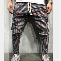 novo mais tamanho roupa venda por atacado-New Academias Vestuário Homens Calças Calças dos homens da forma Jogger Skinny Casual Calças Sweatpants Plus Size M-3XL
