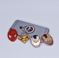 Wholesale retail package universal packaging for sale - Universal Degree Marvel Super Hero Finger Ring Holder Phone Stand For iPhone Samsung Smart Phones With Retail Package