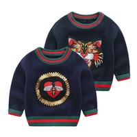 милый свитер мальчика оптовых-Осень зима мальчики свитера милый мультфильм О-образным вырезом воротник дети пуловер дети верхняя одежда пальто одежда
