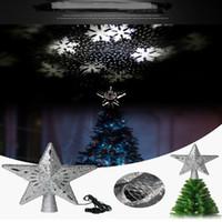 nieve LED Forma de Animación de la lámpara de Tormenta nieve del de copo de la de proyector luz proyección de estrella del rotación Navidad nevadas W9IE2eHYD