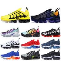 Wholesale best running tennis shoes for sale - Group buy Plus TN Designer Men Women Sneakers Hyper Blue Sunset Game Royal Ultra White Black Best TN Trainers Sport Running Shoes