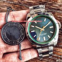 relógios automáticos suíços de qualidade venda por atacado-2 Cor Melhor Qualidade Top De Fábrica 904L Aço Top CAL.3131 Movimento 40mm 116400 116400GV-72400 Sapphire Swiss Mens Automatic Watch Watches