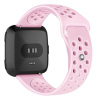 Wholesale silicone wristband sports watch for sale - Group buy Mesh Hole Loops Sport Watch Band Soft Silicone Wristband Replacement Strap Compatible Straps For Fitbit Versa mm