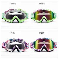 gafas de sol de esquí niebla al por mayor-Gafas de sol a prueba de viento de la motocicleta Gafas de sol al aire libre Gafas de esquí Gafas antivaho Motociclista Equipado Moda Hombres Mujeres HHA272