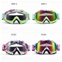 ingrosso nebbia da sole da sci-Moto antivento occhiali da sole all'aperto occhiali sci equitazione occhiali occhiali antiappannanti motociclista attrezzato moda uomo donna HHA272