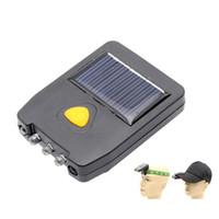 baterias de campismo preço venda por atacado-Faróis solares Reparação Clip on Cap Faróis de cabeça USB Recarregável Lâmpadas de Cabeça Pesca Caça Lanterna Ao Ar Livre Luzes Da Noite de Leitura
