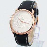 relógios de luxo de aço inoxidável venda por atacado-2019 Hot Sale Man Watch esportes relógio de couro mulheres moda vestido Watch Herm luxo de alta qualidade em aço inoxidável 2 tamanhos amante relógios de pulso