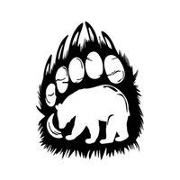 лапы для печати наклейки оптовых-11.9 * 15.2 СМ Прекрасный Медведь Силуэт в Paw Print Живой Автомобиль Стикер Виниловые Украшения Бампер Ветер Виниловая Наклейка Автомобиля Стикер Черный / Серебристый CA-1288