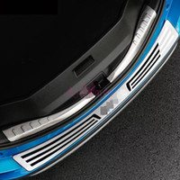 Wholesale accessories for rav4 online - For Toyota RAV4 XA40 Rear Trunk Bumper Guard Plate Door Sill Trim Stainless Steel Car Styling Accessories