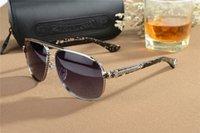 große quadratische brillenrahmen großhandel-Chrom übergroße Sonnenbrille Retro Männer quadratische Sonnenbrille großen Rahmen für Männer Fahrer Sonnenbrille Marke Driving Sonnenbrille mit Originalverpackung