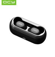 bluetooth qcy al por mayor-QCY qs1 T1C TWS 5.0 Auricular Bluetooth Auricular inalámbrico estéreo 3D con micrófono dual