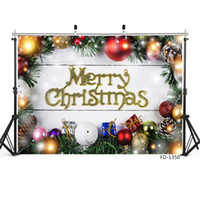 Wholesale christmas backdrops for sale - Group buy Merry Christmas holiday partyp hotography backgrounds backdrop portrait for photo shoot X5ft vinyl cloth backdrops for photo studio