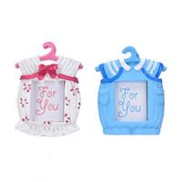 fotos rosa do bebê venda por atacado-Rosa Azul Pequeno Quadro de Imagem Resina Bebê Roupas Padrão Moldura Do Bebê Melhores Presentes Decoração Da Casa