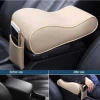 Wholesale auto leather seat pad for sale - Group buy Universal Armrest For Car Soft Leather Car Center Console Cushion Auto Armrest Pad Rest Pillow Mat Arm Rest Seat Box Pad Color