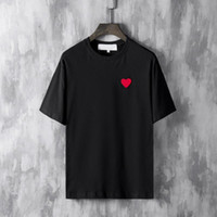 Wholesale play clothes for sale - Hot sell summer Tshirt Luxury Men Designer Clothing Red heart Tshirts ss Letter embroidery Fashion PLAY Tees Casual cotton T shirt top