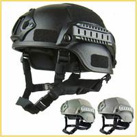 airsoft schnell taktischer helm großhandel-Qualität Leichter FAST Helm Airsoft MH Tactical Helm Outdoor Tactical Painball CS SWAT Reiten Schützen Ausrüstung
