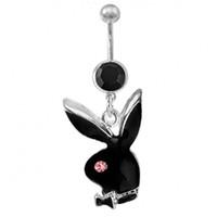 güzel aksesuarlar toptan satış-D0233-1 perakende (3 renkler) güzel stilleri Belly Button Göbek Yüzükler Vücut Piercing Takı Dangle Aksesuarları Moda oryantal kolye Charm Tavşan