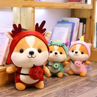 Wholesale dog toy puppet resale online - 20180523 cm Cute Kawaii Dog Shiba Inu Animal Doll Soft Plush Toy Quality Baby Sleeping Birthday Gift Girl Child Decoration Comfort Baby