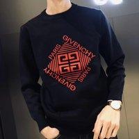 örme kazaklar toptan satış-Markalı Mektupları Moda Kazaklar Kazak Knited Erkekler Kazak Giyim Ücretsiz Kargo ile Erkekler Kazak için 19FW GVC Marka Kışlık süviterler