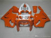 Wholesale kawasaki zx7r orange resale online - ABS plastic fairing kit for Kawasaki Ninja ZX7R orange white fairings kits ZX7R TY19