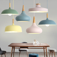 luzes pendentes vintage lâmpada de madeira venda por atacado-LED Hanglamp Vintage Loft Pendant Lights / Lâmpadas Pingente de alumínio Suspensão Luminaire madeira de suspensão Iluminações Cozinha Luster Lampe