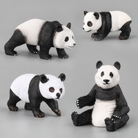 Wholesale china animal figurines for sale - Group buy 1Pc China Panda Bamboo High Simulation Cute Giant Model Toy Wild Animals Toys Set Children Favor Gift Home Decor Figurines
