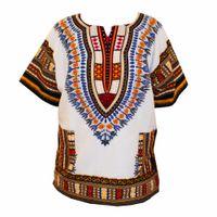 traditional design shirts großhandel-(Schneller Versand) Neue Mode-Design afrikanische traditionelle gedruckte 100% Baumwolle Dashiki T-Shirts für Unisex (MADE IN THAILAND)