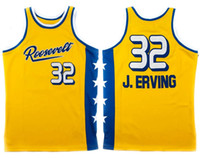 Wholesale julius resale online - Roosevelt High School Julius Dr J Erving Retro Basketball Jersey Men s Stitched Custom Number Name Jerseys