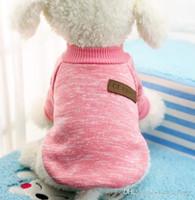 hoodies do animal de estimação do gato venda por atacado-Pet Dog Clothes Chihuahua Inverno Quente de Algodão Gato Hoodies Moletom Pet Casaco Jaqueta Roupas para cães roupas para cachorro