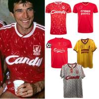 camiseta de fútbol 85 al por mayor-85 86 89 91 04 05 campeones la final Estambul 2005 1985 1986 1989 1991 Camisetas de fútbol Retro Alonso Smicer gerrard camiseta de fútbol S-2XL