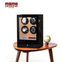 montres lcd de luxe achat en gros de-Remontoir en bois 4 boites de montres automatiques avec télécommande et écran tactile LCD Boite de montres en bois LUXURY Couverture transparente-s204