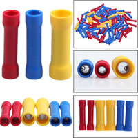 BV1 BV2 BV5 Insulated Straight Wire Butt Connector Electrical Crimp Terminal Yellow Red Blue Three Colors