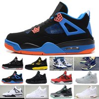 gs retro 11 toptan satış-Nike Air Jordan 1 4 6 11 12 13 Retro Yüksek kalite 4 Basketbol Ayakkabıları CEMNET Yeşil Glow Yangın Kırmızı KORKUSU TORO BRAVO MARS BLACKMON BRED REEN GLOW GS CAVS