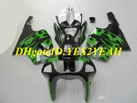 Wholesale kawasaki zx7r fairing black green for sale - Group buy Motorcycle Fairing kit for KAWASAKI Ninja ZX R ZX7R ZX R ABS Top green black Fairings set gifts KZ08