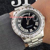 ingrosso grandi orologi a lunetta-5 Colori Topselling Orologio di alta qualità 41mm Day-Date President Big Diamond Lunetta in acciaio inossidabile Asia 2813 Orologi automatici meccanici da uomo