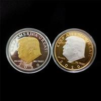 ingrosso monete d'oro americane-Distintivo d'argento del mestiere del metallo dell'argento dell'oro 2020 Presidente americano 45th della raccolta commemorativa della moneta di Donald Trump della moneta mantenga l'americano ancora