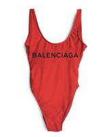 basılı yelek toptan satış-Avrupa ve Amerika Lüks Tasarımcı mektup Mayo Backless Baskı Üçgen Tek Parça Mayo Yelek Seksi Bikini gece kulübü kostümleri