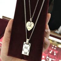 collier étoile bijoux de femmes de mode achat en gros de-Deux G Vintage squelette De Mode Carré Pendentif Collier Pour Femmes Hommes Out Star Choker GG Collier Luxurys marque bijoux