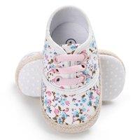 цветочный принт обувь кроссовки оптовых-Baby Girl Дышащий Цветочный Принт Anti-Slip Shoes Кроссовки Малыша Мягкой Подошве 0-18 М Новый