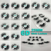 Wholesale mink lashes factory for sale - Group buy 25mm D mink eyelashes Super natural Lifelike Fit Thick false d Mink Lashes realistic Handmade factory direct sale