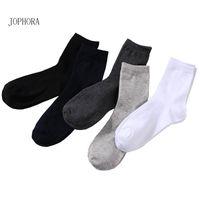 neue modellsocken großhandel-JOPHORA neue Socken Herren Baumwollsocken Herbst- und Wintermodelle Baumwoll Doppel Nadel Herren Tubesocken atmungsaktiver Sweat-Abso