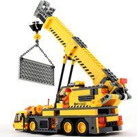 guindaste de brinquedo de construção venda por atacado-380 Pcs Caminhão Guindaste Da Cidade Modelo de Blocos de Construção de Engenharia Urbana Criador Compatível LegoINGLs Technic Tijolos Brinquedos para Crianças
